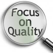 Magnifying class highlighting Focus on Quality