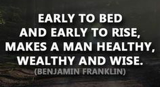 Quote from Ben Franklin about success